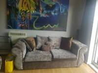 grey velvet sofas 3+2