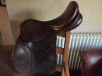 Brown Leather Ideal 17.5 inch wide Saddle