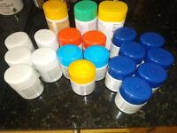 Vitamin tubs various sizes