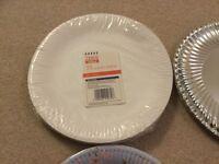 Pack of 35 Tesco Value white paper plates ..... new