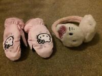 Hello Kitty Gloves / Ear Muffs