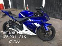 Yamaha Yzf R 125 2011 £1750
