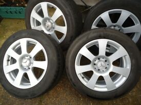 4 x17 GENUINE MERCEDES AlLOY WHEELS AND TYRES WILL FIT S-R CLASS - VITO/VIANO