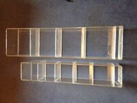 two perspex shelves in perfect condition