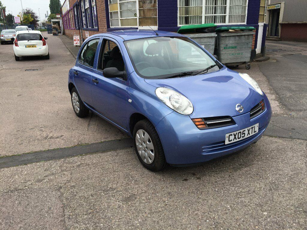 2005 nissan micra 1 2 5 door only 55000 miles petrol manual gearbox blue cheap to run tax. Black Bedroom Furniture Sets. Home Design Ideas