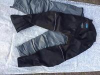 Small water & frost proof reinforced motorbike trousers