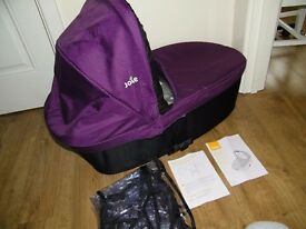 Joie Chrome carrycot -New !!