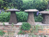 Garden staddle stones