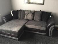 4 seater corner sofa and cuddler chair