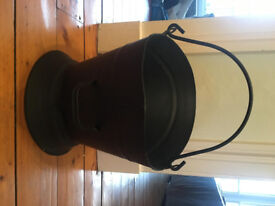 Black fire bucket - excellent condition, hardly used