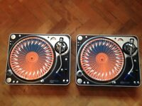 Pair of Stanton T120c direct-drive turntables in mint condition