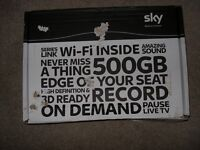 SKY+ HD 500gb WIFI box, remote & cables, extra box, upgrade or replace faulty box, easy to fit