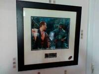 Predator signed autograph print by Carl Weathers