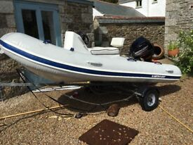 Mercury 2014 RIB 340 with 2014 20hp 4stroke Mercury outboard. max 30hrs use. really good condition