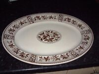 large meat server plate, brown. no chips or cracks, Ideal for Christmas or Parties, £10