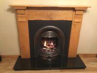 Solid oak fire place