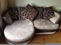 3 Seater Pillow Back Sofa and Large Swivel Chair £350 (possible local delivery)