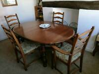 Ercol dining room table & chairs