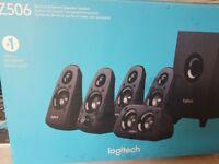 Logitech around sound speaker set never used still in box