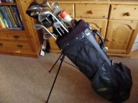 Golf set; clubs, bag and some accessories