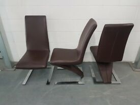 36 No. Z underframe real leather chairs