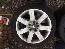 E90 genuine BMW alloy new tyres