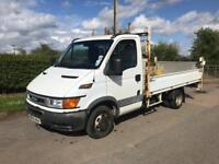 IVECO DAILY LWB FLATBED TRUCK WITH TAILIFT
