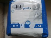 adult incontinence slips/ pads