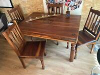 refurbed Jack Daniels style table n chairs with free gifts