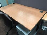 1600mm x 800mm Straight Office Desk - Beech