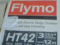 flymo hedge trimmer brand new still in box model ht 42