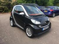 Smart Fortwo 2008 model -petrol- black - pan roof - hpi clear part ex welcome