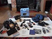 Sony Video8 Handycam, CCD TR105E (tapes not SD) plus accessories and other linked equipment - £60