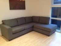 JOHN LEWIS FABRIC CORNER SOFA - MUST GO ASAP - CHEAP DELIVERY - £350