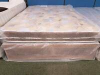 Quilted divan mattress and base set (double)