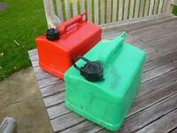 2 petrol / 2 stroke mix / diesel containers