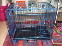 """Electric Blue Dog Life Dog Crate/Cage - Small (24"""" / 60cm) - suitable for puppy or small dog"""