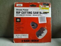 Rip cutting saw blade