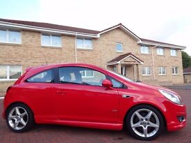12 MONTHS WARRANTY! (08) VAUXHALL CORSA SRi 1.6 (A/C) 3dr FLAME RED- Very Low Mileage- 2 Owners- FSH
