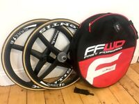 Xentis Mark 1 Full Carbon Fiber 700c wheel set (Front & Rear) + Case