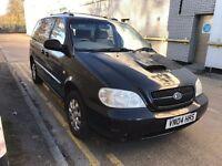 2004 KIA SEDONA CRDI LX 7 SEAT MPV DIESEL MANUAL TOWBAR FAMILY CAR NOT ZAFIRA GALAXY 12 MONTH MOT
