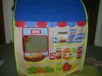 Chad Valley play tent/ shop