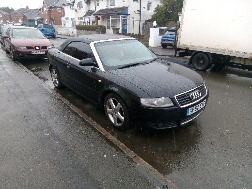 Fast Sale Audi A Convertible Drive Good Insurance Mot Rod Tax - Car insurance for audi a4