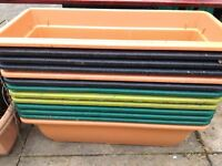Plastic planters for garden or patio 50cm