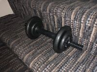 Dumbells for sale x2 with 20kg of weights