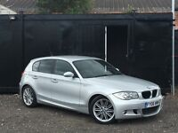 ★ BMW 1 SERIES 116i M SPORT + FULL BLACK LEATHERS + ALLOYS +