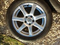 Volvo/ford alloy wheels with excellent continental winter tyres