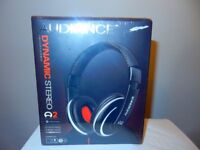 Audiance A2 Premium Over Ear Stereo Headphones in Black Red (3.5mm Jack)