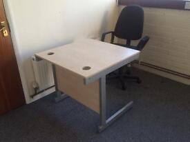Light Brown Wooden Office Desk
