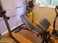 Weights bench and Weights, ONLY USED ONCE !!